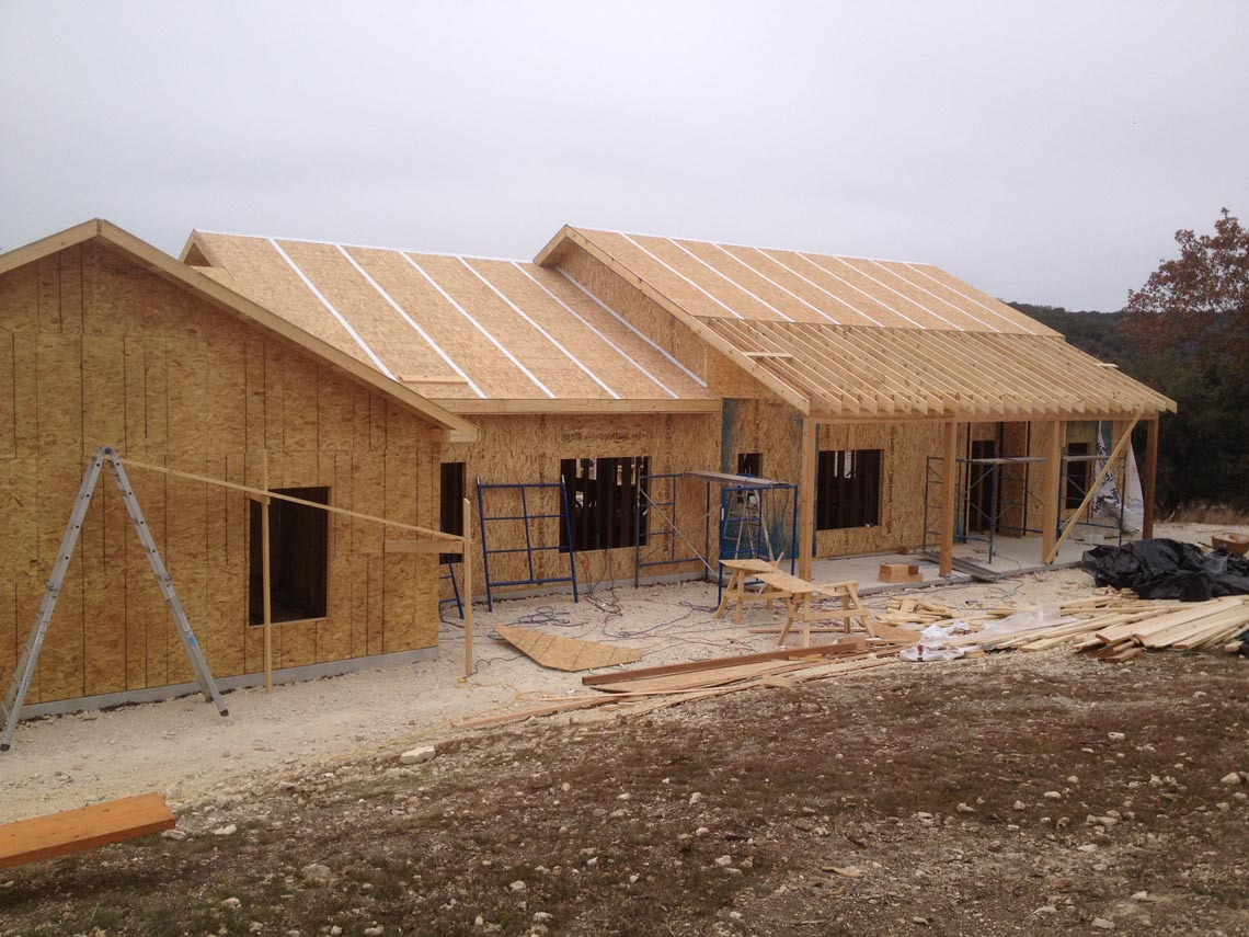 Structural insulated panels for Styrofoam house construction